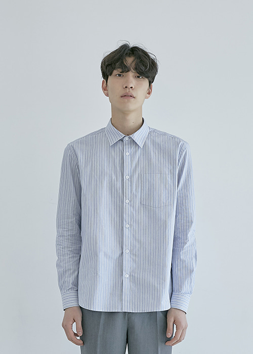 cotton shirt blue stripe