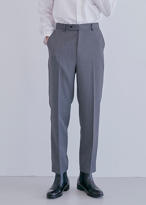 premium wool pants grey