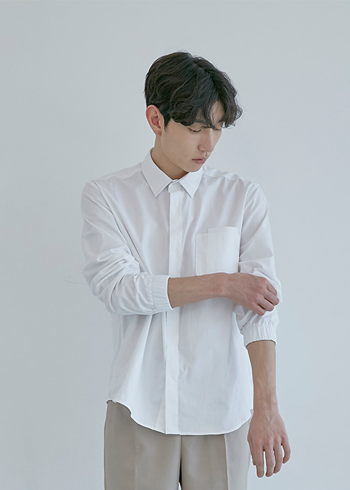 banding shirt white