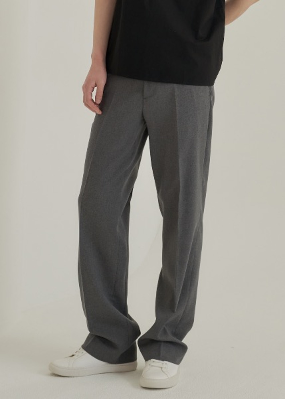semi wide trousers grey