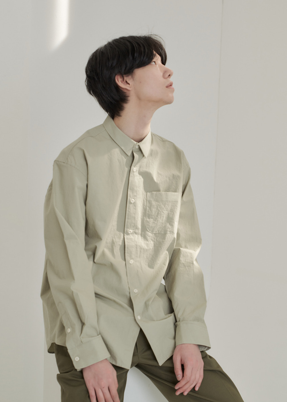 crunch shirt khaki