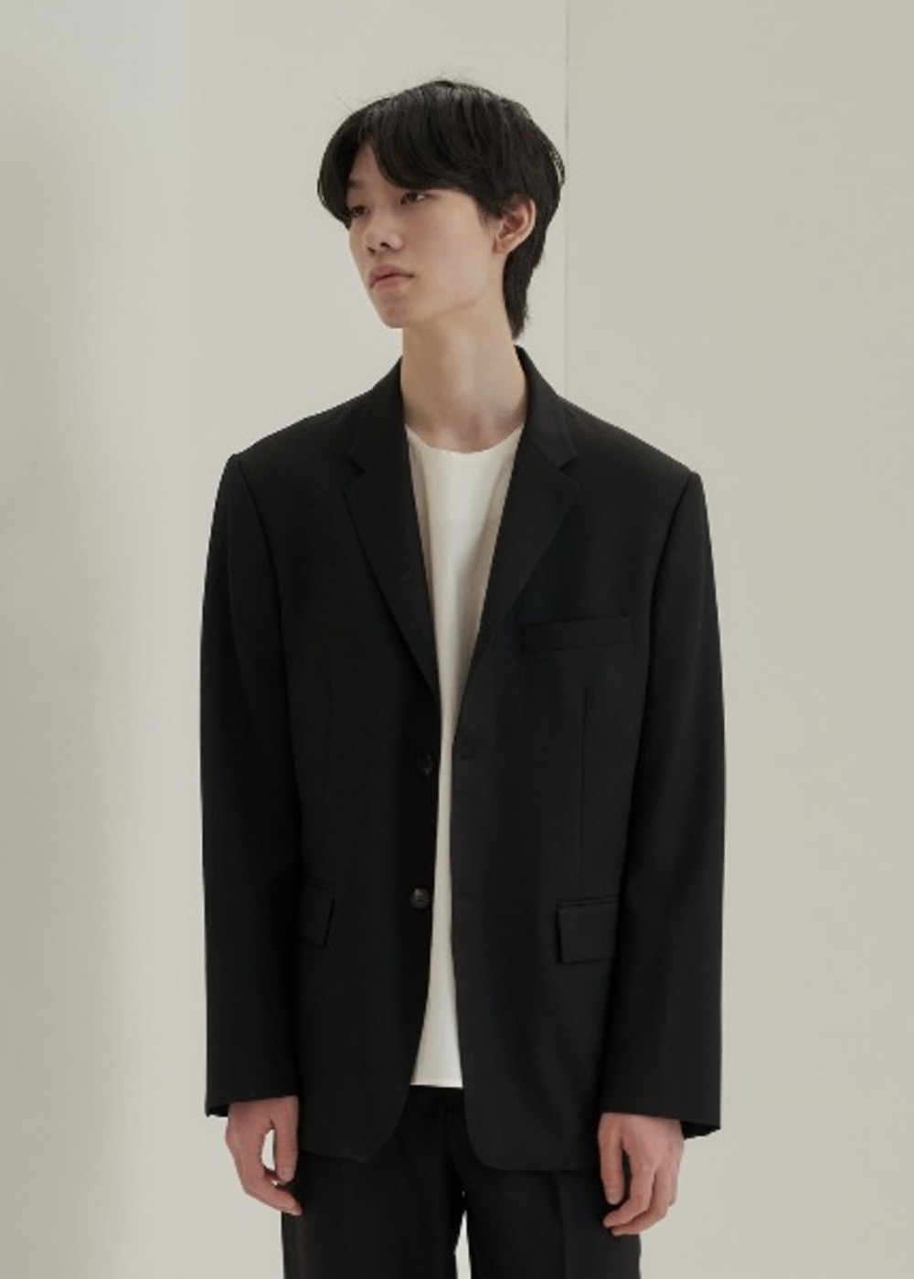 fine wool jacket black